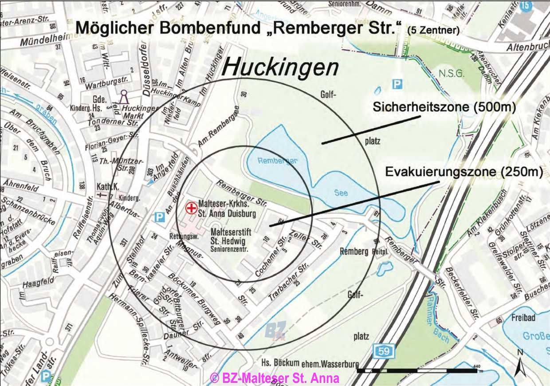 Bz Duisburg Lokal Verdacht Auf Bombenfund An Den Malteser St Anna
